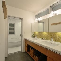 モダンな洗面室・浴室