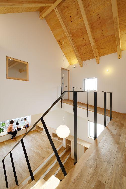 『蒲郡・新井形の家』コンパクト&シンプルな住まい (吹き抜け部分)