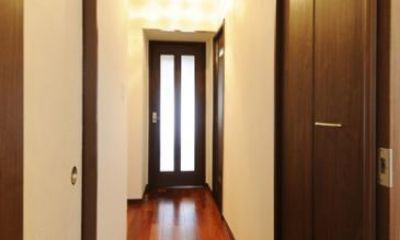 LDKにつながる廊下|リビングと和室を組み合わせた和みのLDK