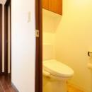 間取りの良さを引き出した開放的な住まいへの写真 トイレ