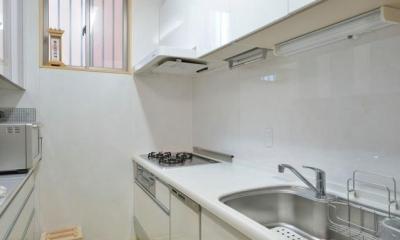 高齢者介護を前提とした自然素材リフォーム (キッチンスペース)