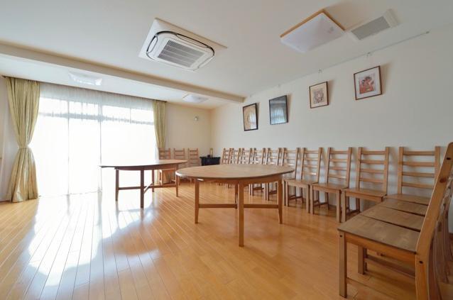 お寺の庫裡の大規模スケルトンリフォームの部屋 法事等で使用するスペース