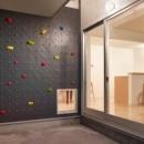 村松工務店の住宅事例「ボルダリングウォールのある遊び心いっぱいの家」