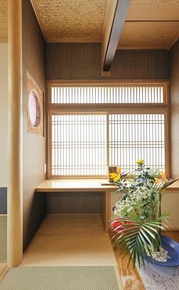 和風の家の写真 光が差し込む床の間