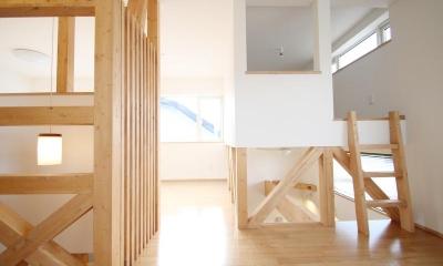 小さな個室のある2階部屋|ハリーさんの家