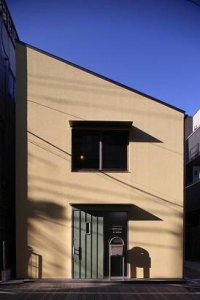 東京都中野区F邸 (片流れ屋根のコンパクトな外観)