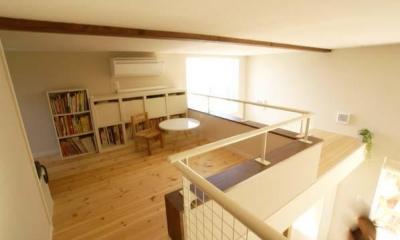 ロフト-小屋裏収納|『海を望む家』建築家と建てる横須賀の狭小住宅