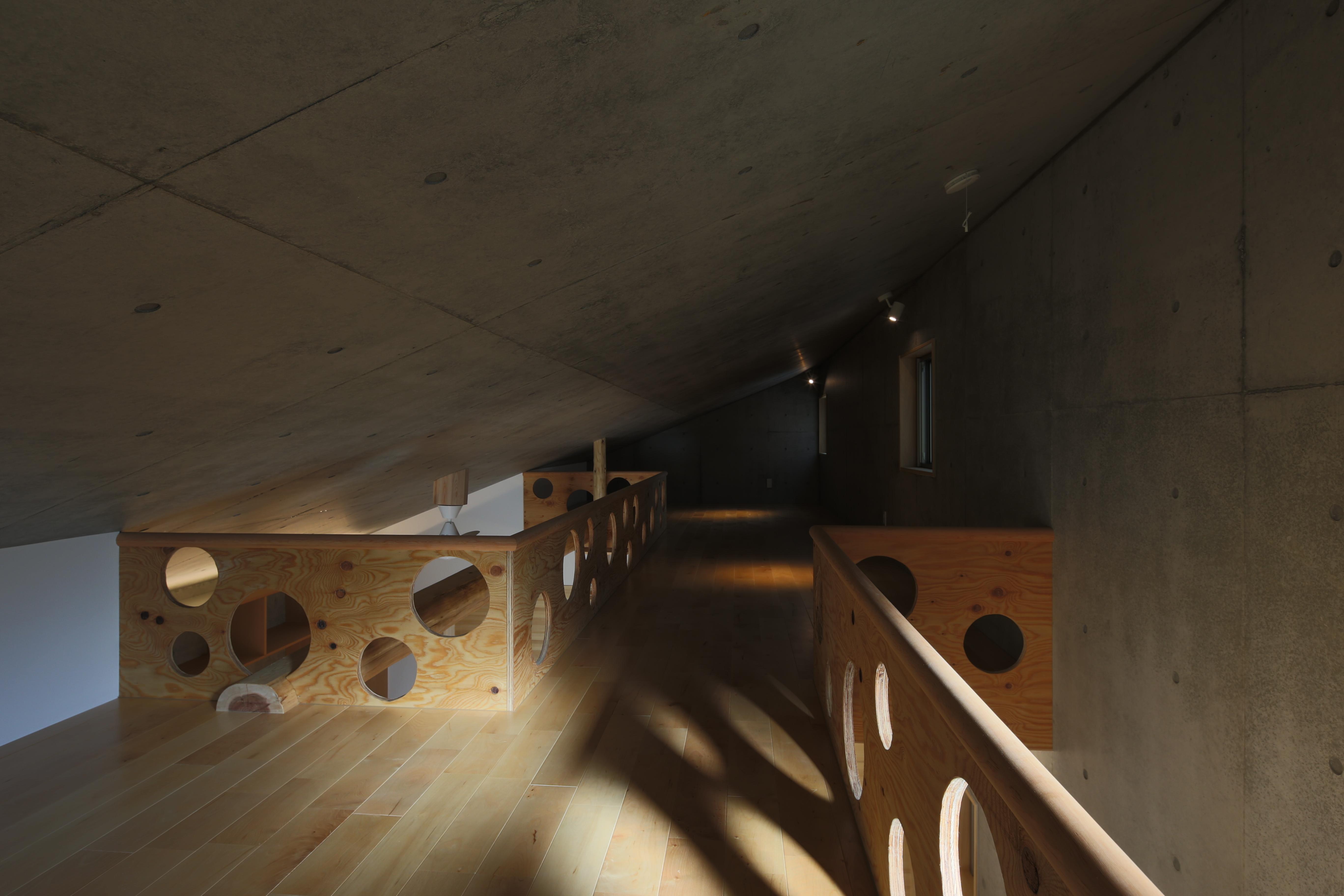 東京都中野区F邸の部屋 片流れ屋根のロフト