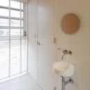 すっきりとした玄関手洗い器