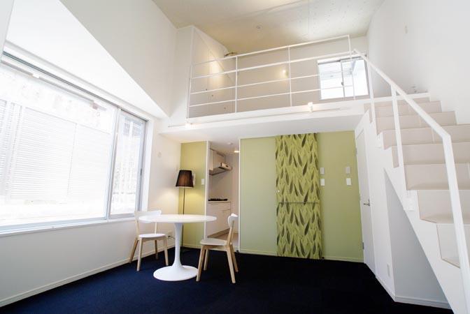 『collina』多様な価値感を受け入れるシンプルな箱の部屋 E1住戸-メゾネットタイプ