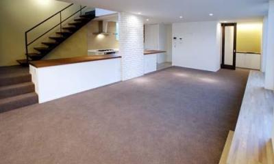 開放的な2階LDK|『house-sgs』3階建ての二世帯住宅