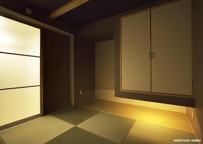 『小戸の家』落ち着きとゆとりのある住まい (落ち着きのある和モダンな和室-1)