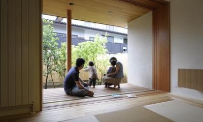 『小柴見の家』伸びやかに暮らせる和みの家 (庭と一体になる畳リビング)