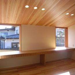 『小柴見の家』伸びやかに暮らせる和みの家-木の温もり感じる子供部屋