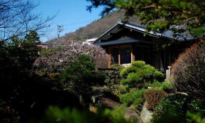 美しい庭のある家外観-2|岩田坂の増築
