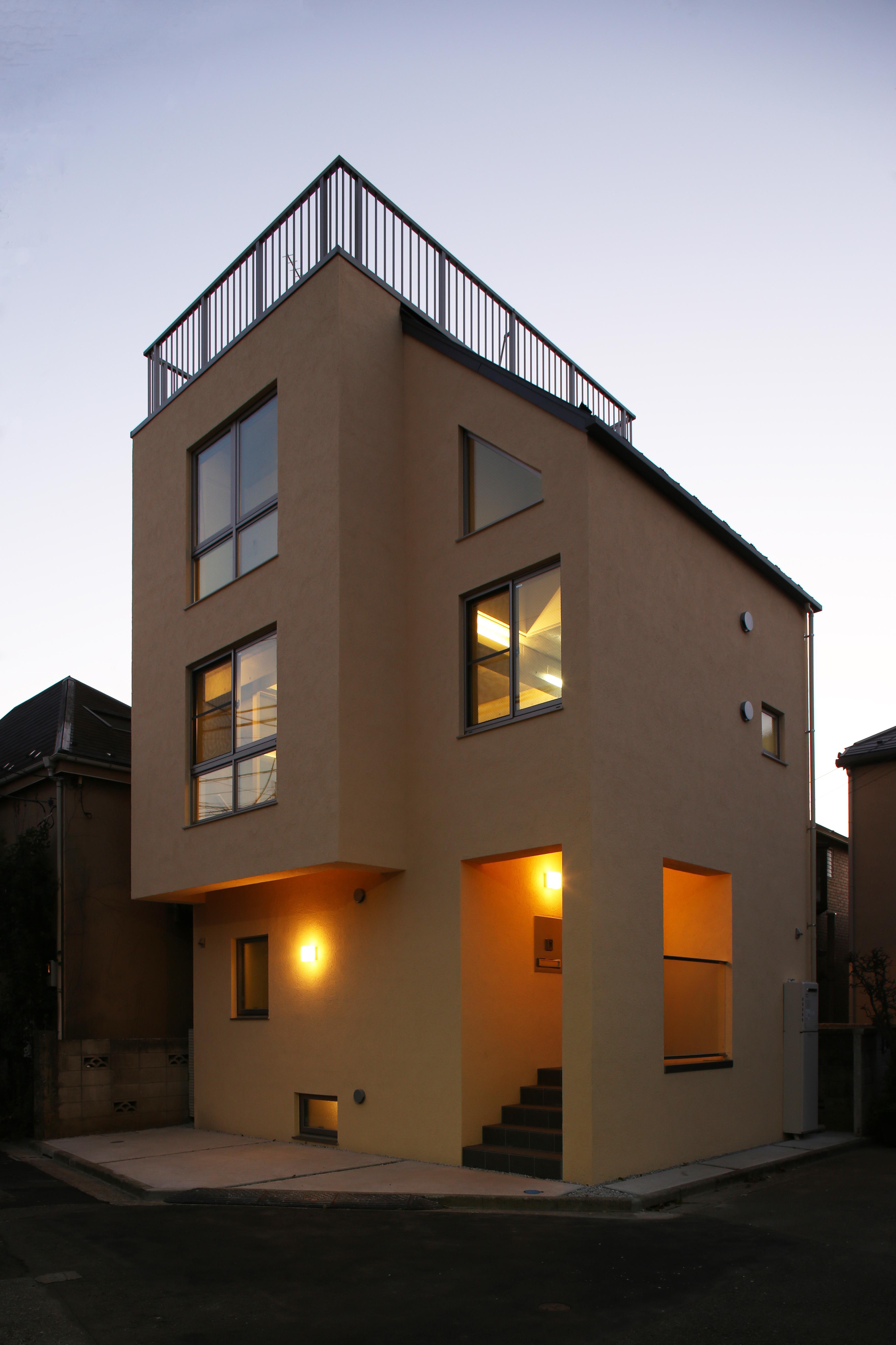 東京都大田区Y邸の写真 外観ライトアップ