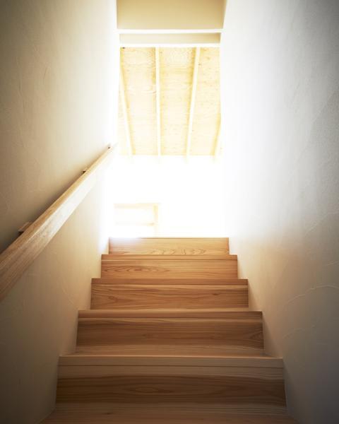 木造町の離れ (ナチュラルテイストの階段室)