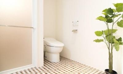 団地リノベーション 01  人が繋がる部屋 (トイレ・バス)