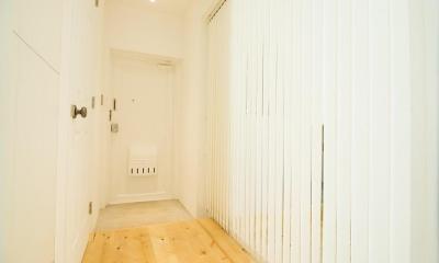 団地リノベーション 01  人が繋がる部屋 (玄関)