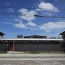平屋のコートハウス-外観