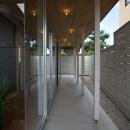 水野行偉の住宅事例「『菜園ののったフラット』3方向にひらいたコートハウス」