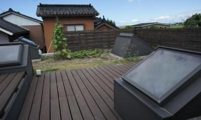 緑が植えられた屋上菜園-2|『菜園ののったフラット』3方向にひらいたコートハウス