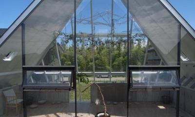 2階展示室・ギャラリー-1|『ガラスのピラミッド』ガラスの合掌造り