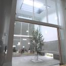 オリーブの植えられた2階パティオ-2
