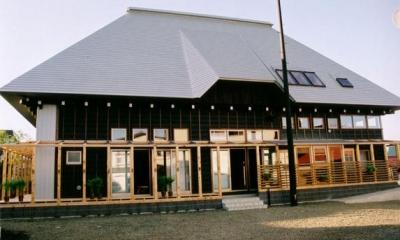 大屋根の家-外観|『弘前の家』明るく風通しのよい住まいへ