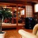 居間・食堂-レベル差のあるワンルーム空間
