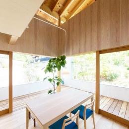 『コヤナカハウス』半屋外空間のドマがある家
