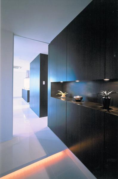 名古屋市N邸・リゾートホテル感覚の日常空間の写真 玄関ホール-ニッチ付き玄関収納