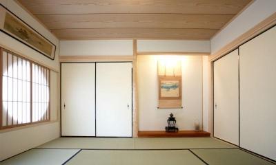 純和室 (I邸・住職やその家族の住む邸宅)