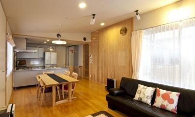 KO邸・二世帯住宅へ増築リフォーム (温かみのある子世帯LDK-2)