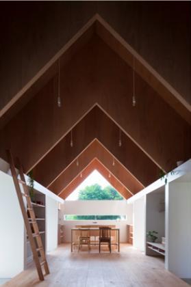 『コヤノスミカ』趣味を楽しめる空間、ゆったり寛げる空間の部屋 LDK-連続するV梁