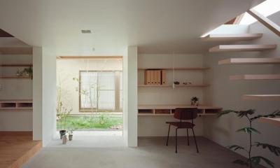『コヤノスミカ』趣味を楽しめる空間、ゆったり寛げる空間 (土間-ご主人の趣味スペース)