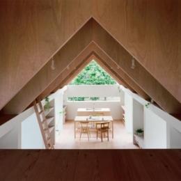 『コヤノスミカ』趣味を楽しめる空間、ゆったり寛げる空間 (2階寝室よりダイニングを見る)