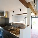 ステンレスの対面式キッチン