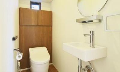 M邸・スタイリッシュな和の家 (シンプル&ナチュラルなトイレ空間)