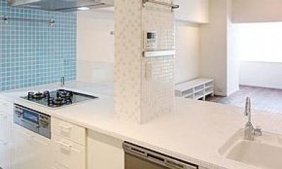 スタイリッシュなオーダーキッチン-2|I邸・お洒落な大人の空間