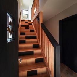 HOUSE YR 『アルプスを臨む家』 (和モダンな階段室)