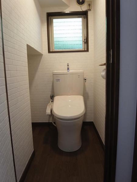 珪藻土&チェカーガラスの写真 トイレ