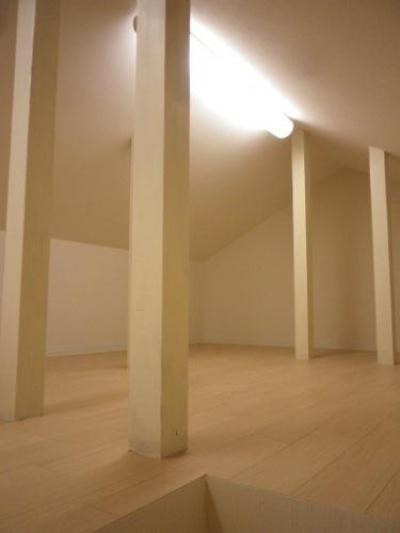 屋根裏部屋 (セミオープンキッチンと造作家具)