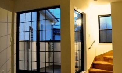 輸入スタイル (格子窓と階段)