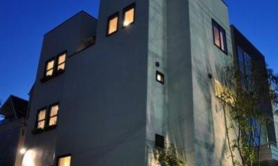 都心の狭小地で3階建て