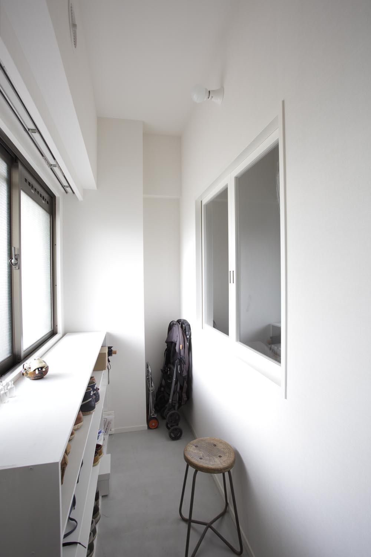 O邸・シンプルナチュラルなあたたかさの部屋 オープンな土間スペース