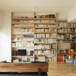 リビング-大容量の壁面収納