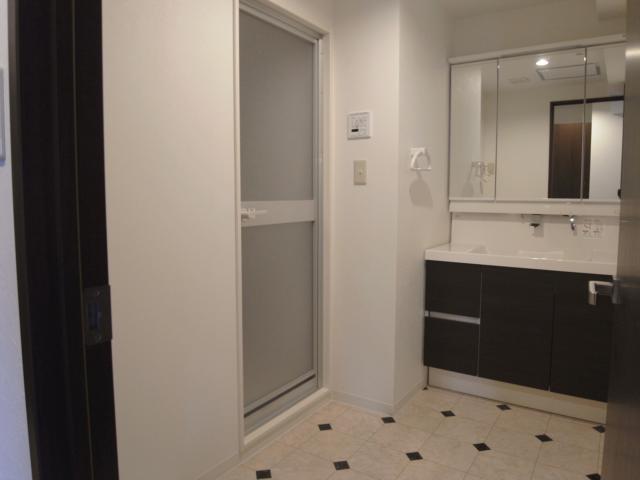 ヴィンテージマンションに住まうの部屋 広々としたサニタリールーム