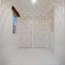 玄関-照明による空間演出