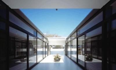 光と風を取り入れる中庭テラス|『Ya-Ya-』風が通り抜けるリゾート風住宅